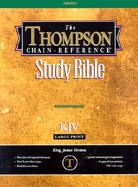 Thompson Chain-Reference Bible King James Version/Large Print/Plain/Deluxe Bonded Burgundy Leather cover