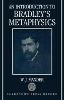 An Introduction to Bradley's Metaphysics cover