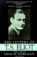 Letters of T.S. Eliot 1898-1922 (volume1) cover