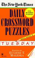 The New York Times Daily Crossword Puzzles Tuesday  Level 2 (volume1) cover