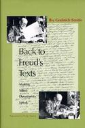 Back to Freud's Texts Making Silent Documents Speak cover