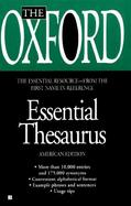 The Oxford Essential Thesaurus cover