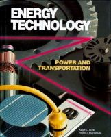 Energy Technology Power and Transportation cover