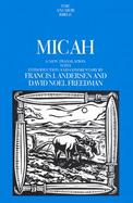 Micah A New Translation With Introduction and Commentary cover