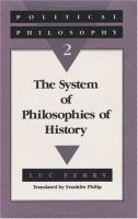 The System of Philosophies of History cover