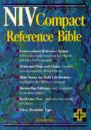 Niv Compact Reference Bible Navy Bonded Leather, Button Flap cover