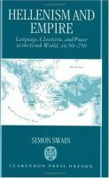 Hellenism and Empire Language, Classicism, and Power in the Greek World, Ad 50-250 cover