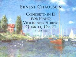 Concerto in d for Piano, Violin and String Quartet, Op. 21, in Full Score cover