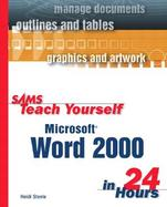 Sams Teach Yourself Microsoft Word 2000 in 24 Hours cover