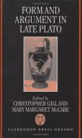 Form and Argument in Late Plato cover