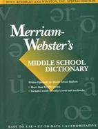 Webster's Middle School Dictionary cover