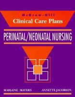 Clinical Care Plans for Perinatal Nursing cover