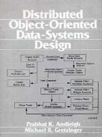 Distributed Object-Oriented Data-Systems Design cover