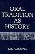 Oral Tradition As History cover