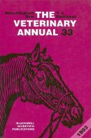 The Veterinary Annual Thirty-Third Issue/1993 cover