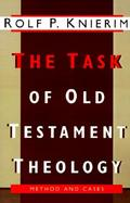The Task of Old Testament Theology Substance, Method, and Cases cover