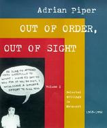 Out of Order, Out of Sight Selected Writings in Meta-Art 1968-1992 (volume1) cover