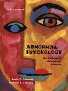 Abnormal Psychology: The Problem of Maladaptive Behavior cover