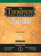 Thompson Chain-Reference Bible King James Version/Large Print/Red Letter/Burgundy/Deluxe Leather cover