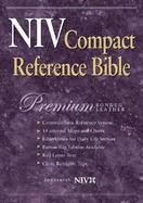 Niv Compact Reference Bible Black Premium Bonded Leather, Button Flap cover