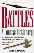 Battles: A Concise Dictionary cover