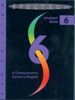 Spectrum VI A Communicative Course in English, Level 6 cover