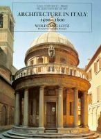Architecture in Italy, 1500-1600 cover