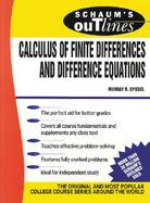 Schaum's Outline of Theory and Problems of Calculus of Finite Differences and Difference Equations, cover