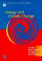 Energy & Climate Change: An IEA Source Book for Kyoto & Beyond cover