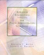 Applied Statistics for Public Admin cover