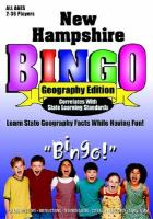 New Hampshire Bingo Geography Edition cover
