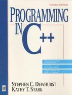 Programming in C++ cover